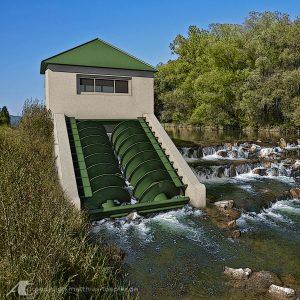 Wasserkraftschnecke / 3D-Visualisation in Kombination mit einer Fotoaufnahme für das Amt für Umwelt und Naturschutz Bayern