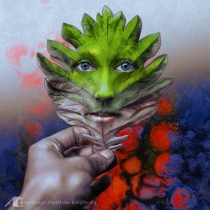 Heilung durch mentale Erkenntnis / Illustration auf Fotobasis für CROPfm.at