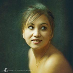 Junge Dame Fotopainting nach einem StudioPorträt