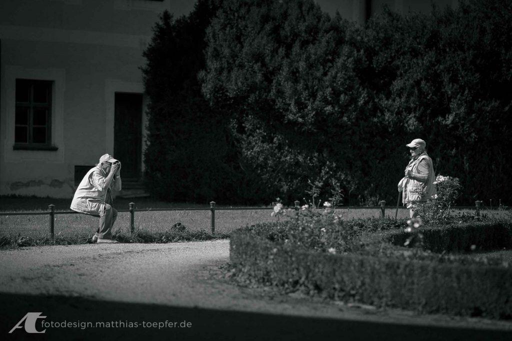 Straßenfotografie eines glücklichen Momentes