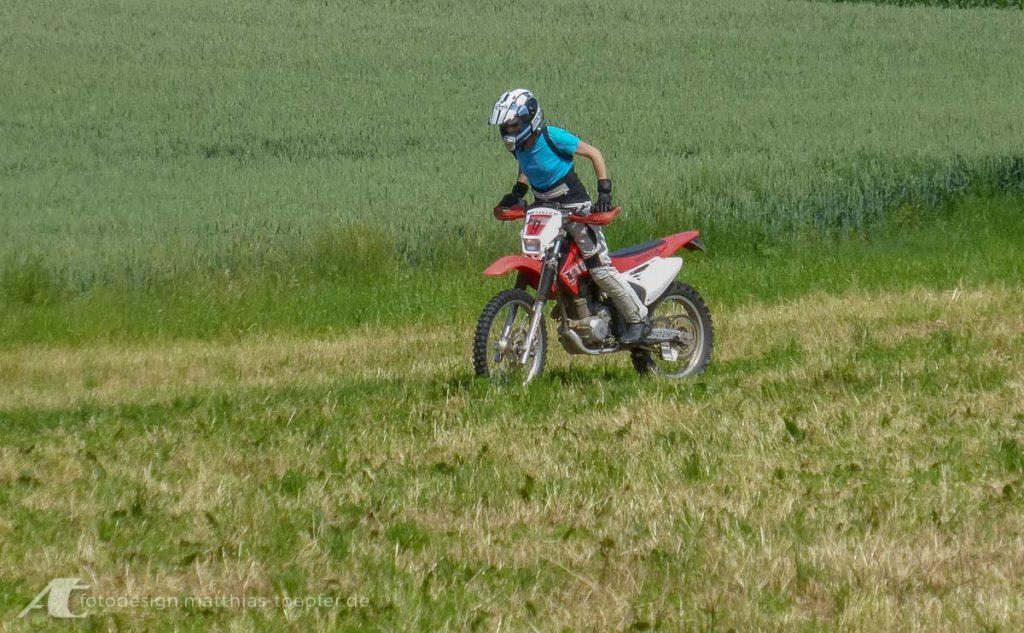 Motorrad Training Gelände
